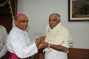 With Arch Bishop of Bangalore Barnord Mores on New Year Day