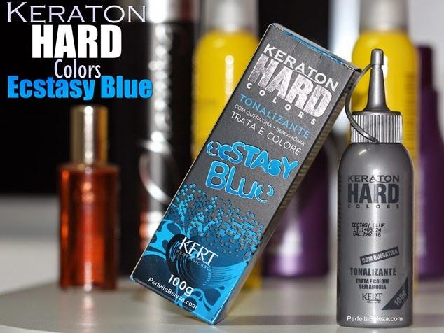keraton hard colors Ecstasy Blue, keraton azul, cabelo azul
