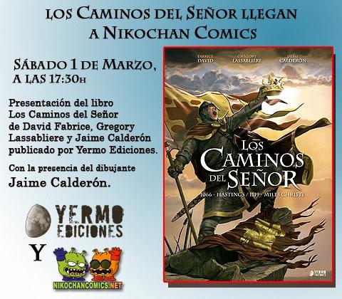 Presentación en Nikochan Comics Badalona de Los Caminos del Señor de Jaime Calderón