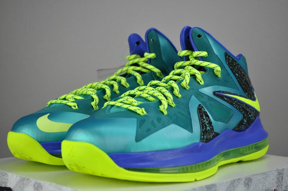 ... Nike LeBron X PS Elite Sport TurquoiseVoltViolet Force ... 6414fab68
