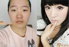 chinese girls makeup before and after  (16)