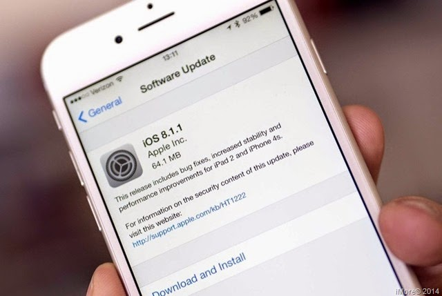 Apple lanza nueva actualización iOS 8.1.1 orientada a iPhone 4 S - iPad 2