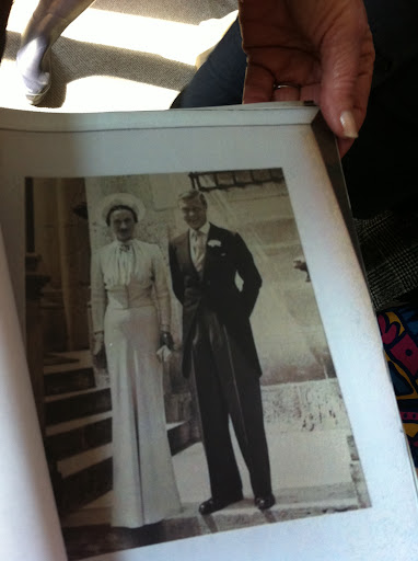 This photo album of the Duke and Duchess of Windsor served as part the designer's royal wedding inspiration.