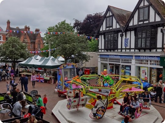 Fairground rides and Farmers Market