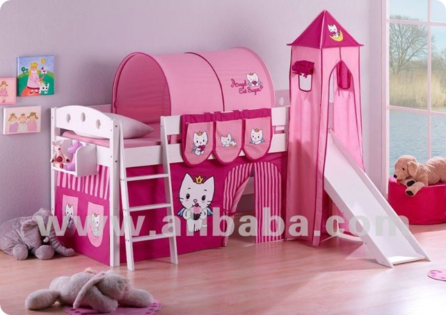BUNK_BED_Childrens_bed_high_sleeper_bed_cabin_bed_Angel_cat_sugar_by_HELLO_KITTY_WORLD_NOVELTY_