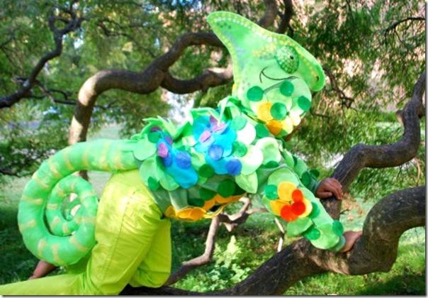 disfraz de camaleon para niño