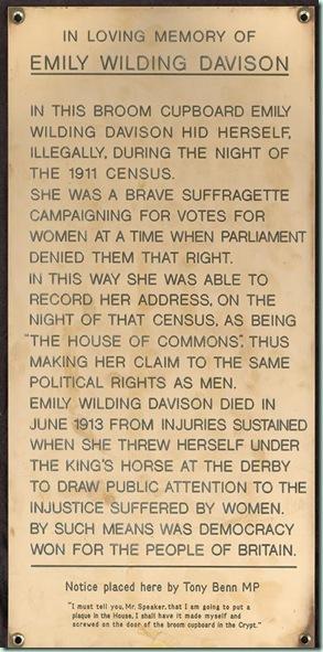 emily plaque