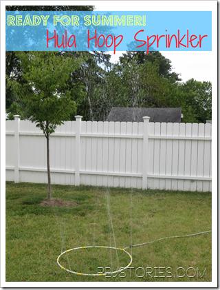 DIY Hula Hoop Sprinkler