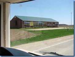 4288 motorhome trip to Bronte Creek Provincial Park CR-124 mural on The Highland Companies barn