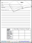 Reading Response Journal - 36 opportunities to respond to what you are reading