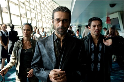 "(Center) Jordi Molla as ""Marco"" in Columbia Pictures' COLOMBIANA."