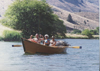 Grandma Betty and Grandad Holeman out rafting the Deschusetts with my uncle Eric in a drift boat he made. We used to raft the Deschusetts from Troutcreek to Maupin every summer with my dad's siblings and all their families.