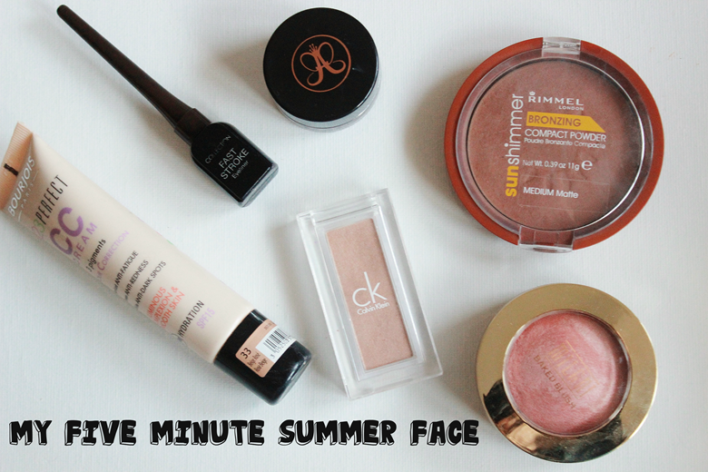 my 5 minute summer face