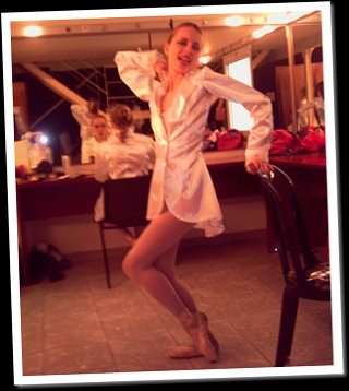 Doing stupid stuff backstage in my ballet days...