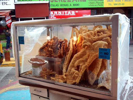 Chicharrón at Mercado Hidalgo in Tijuana