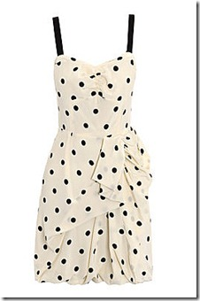 Marc by Marc Jacobs Cream Polka Dot Dress
