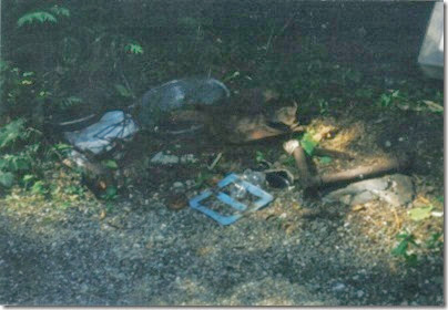 Artifacts along the Iron Goat Trail near Corea in 2000