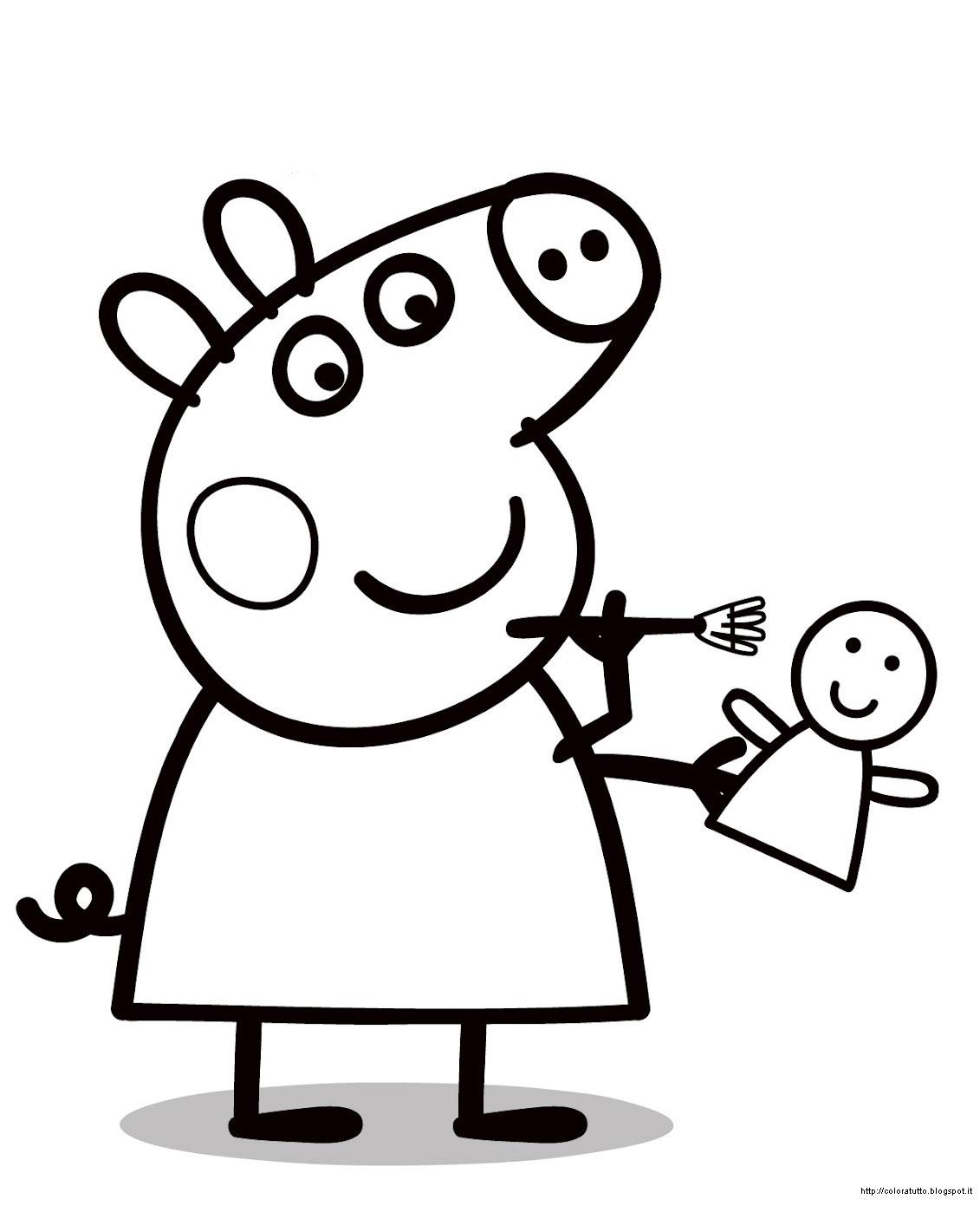 Peppa pig disegni da colorare e libri filastrocche per tutti in
