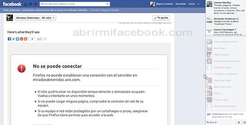No carga la página de Facebook - Solución