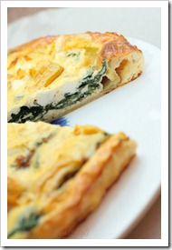 Kolejny szybki obiad – quiche albo tarta ze szpinakiem i serem feta