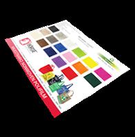 Muestrario de colores de Textiles Sintéticos