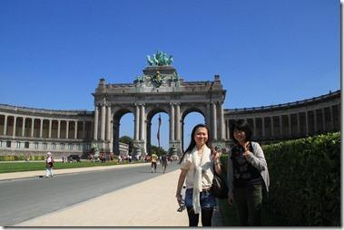 ベルギーの凱旋門で