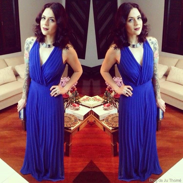 look macacão plissado azul