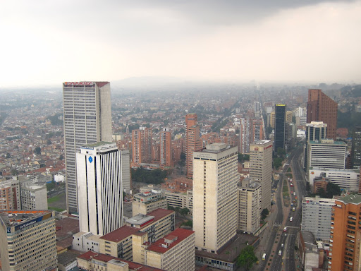 Downtown Bogota, as seen from the Colpatria Tower