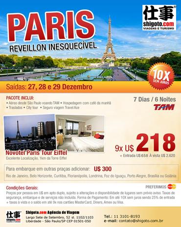 Paris, Reveillon inesquecível
