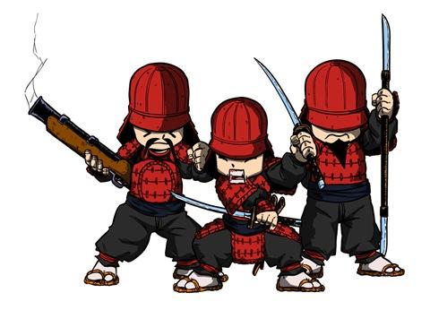 Diseño de Samukokes del Clan del Fuego