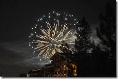 Disneyland Fireworks from Grand Californian (2)