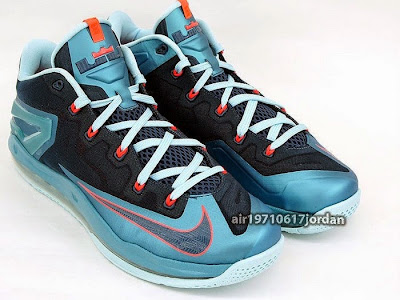 nike lebron 11 low gr nightshade 1 01 Upcoming Nike Max LeBron XI Low Turbo Green / Nightshade