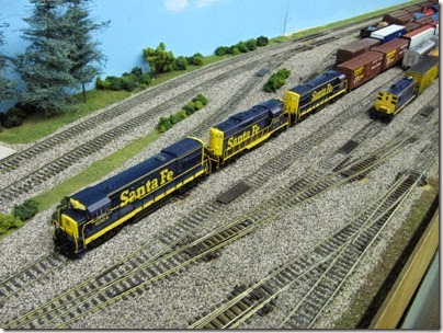 IMG_5403 Atchison, Topeka & Santa Fe Freight Units on the LK&R HO-Scale Layout at the WGH Show in Portland, OR on February 17, 2007