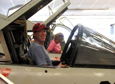 Mark Terri In The Pilot Seats