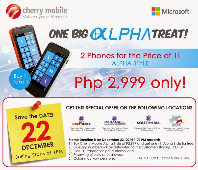 Cherry Mobile Alpha Style Promo