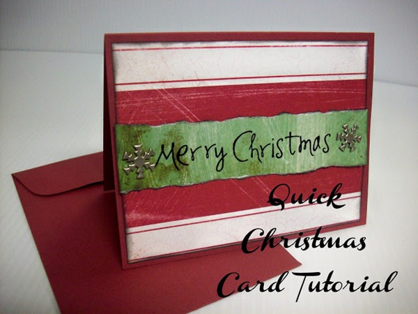 Quick Christmas Card Tutorial