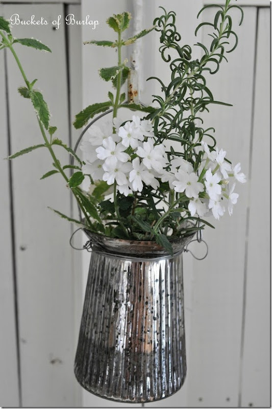 Dining room hanging vase