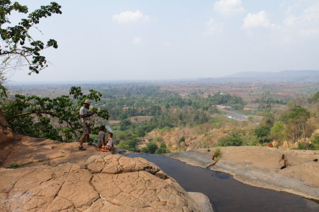 On top of the Tad Luang waterfall, Bolavan Plateau, Laos