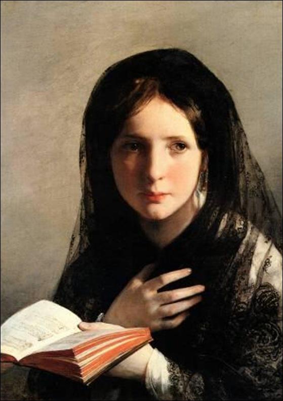 Friedrich Von Amerling, Jeune fille lisant