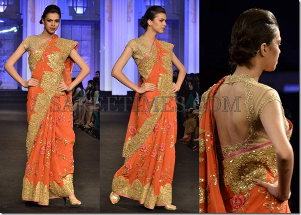 Pallavi_Jaikishan_Orange_Embroidery_Saree
