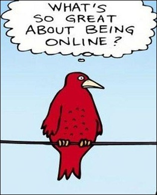ambiguidade de  estar online
