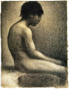 Seurat; study for Bathers Asnieres