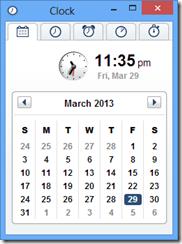 Clock 啟動畫面,一般時間顯示 Date & Time