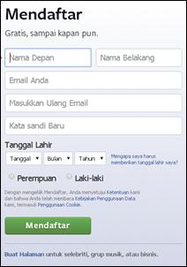 Langkah #1 Membuat Akun Facebook