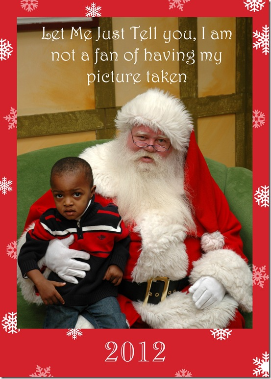 Kendry and Santa 2012 captioned