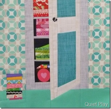 And Sew On BoM August block I like big stash