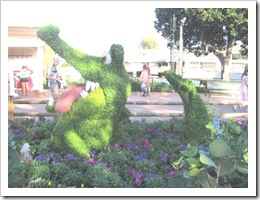 Florida vacation Epcot topiary Peter Pan crocodile