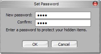 FolderDefence settare password di protezione del programma