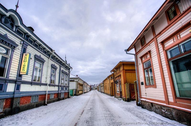 Rauma old town in Winter