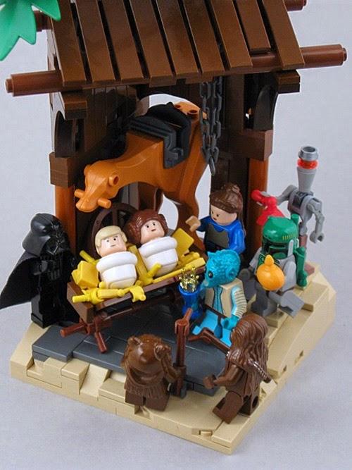 Presépios criativos - presépio de brinquedo